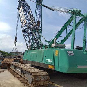 Japan made used kobelco 7055 crawler crane, Good quality p&h