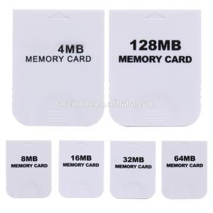 4MB 8MB 16MB 32MB 64MB 128MB Practical White Memory Card For Nintendo Wii For Gamecube GC Game