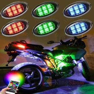 Motorcycle SUV Colorful Color Changing 10 Pods Led String Lights Motorcycle Lighting System With Bluetooth APP Control